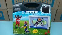 Playmobil 5994 Carrying Case Soccer Mint In Box Team League Sports Ball