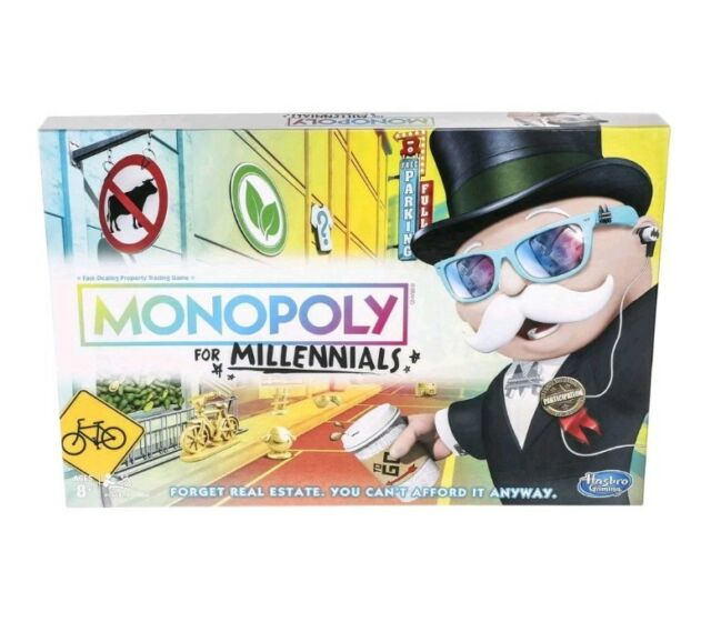 Monopoly for Millennials Millenials Board Game Ages 8+ HTF Hot Toy NEW Hasbro