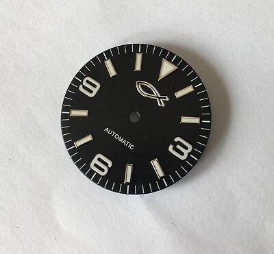 2 pcs Christian Jewish Fish Explorer Watch Dial for ETA 2836 / 2824 Movement DIY