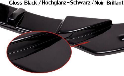 Cup Spoiler Labbro Nero per Audi a6 4g labbro anteriore approccio diffusore spada davanti