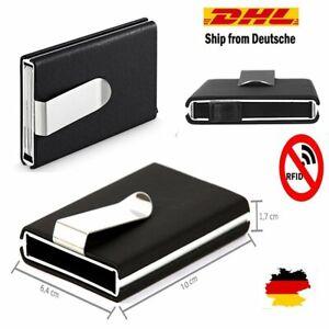 2x Kreditkartenetui Kartenetui Visitenkartenetui Kartenhalter RFID Edelstahl DHL