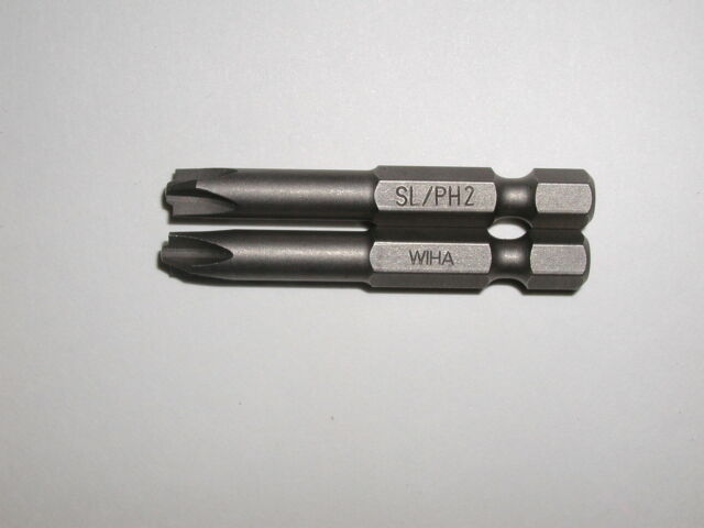 Wiha 2 PC Cross Slotted Terminal Block Bit (#2) Set 71453