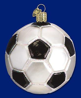 Soccer Ball Ornament Glass Old World Christmas 44012 1