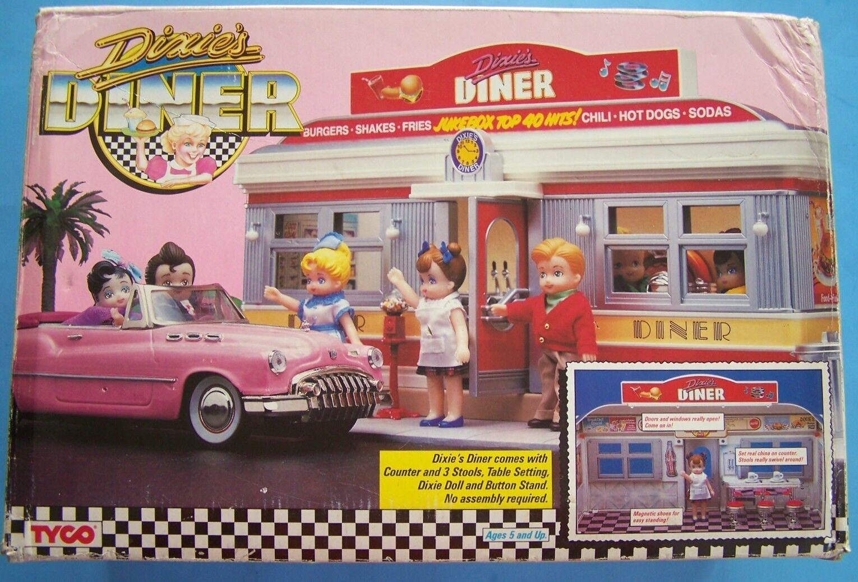 Dixie's Diner Tyco Conjunto de Juego Con Muñeca, Counter-Taburetes En Caja Original
