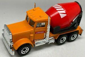 MATCHBOX SUPERFAST N. 19 RARA Arancione Peterbilt CEMENT TRUCK-losinger-Nuovo di zecca