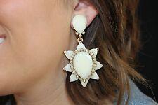 Runway Oscar de la Renta Haute Couture Sunburst Drop Earrings Wedding Perfect!