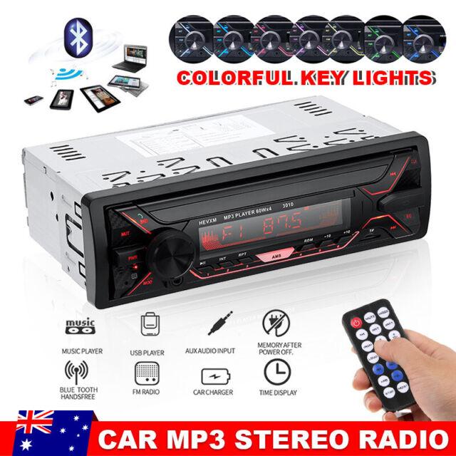 Bluetooth In-dash Car Stereo Audio Head Unit Radio MP3 Player FM/USB/SD/AUX 1DIN