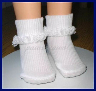 For Chatty Cathy 2 pair Socks Lace trim fit 85mm shoes