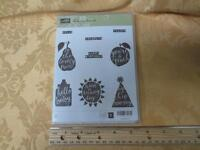 Stampin Up Silhouettes & Script 2015 Hostess Clear Mount Rubber Stamp Set