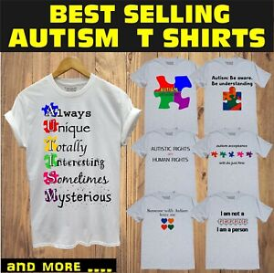 014a39c30 Image is loading Autism-Awareness-Shirts-Puzzle-Autistic-Charity-Fundraising -T-
