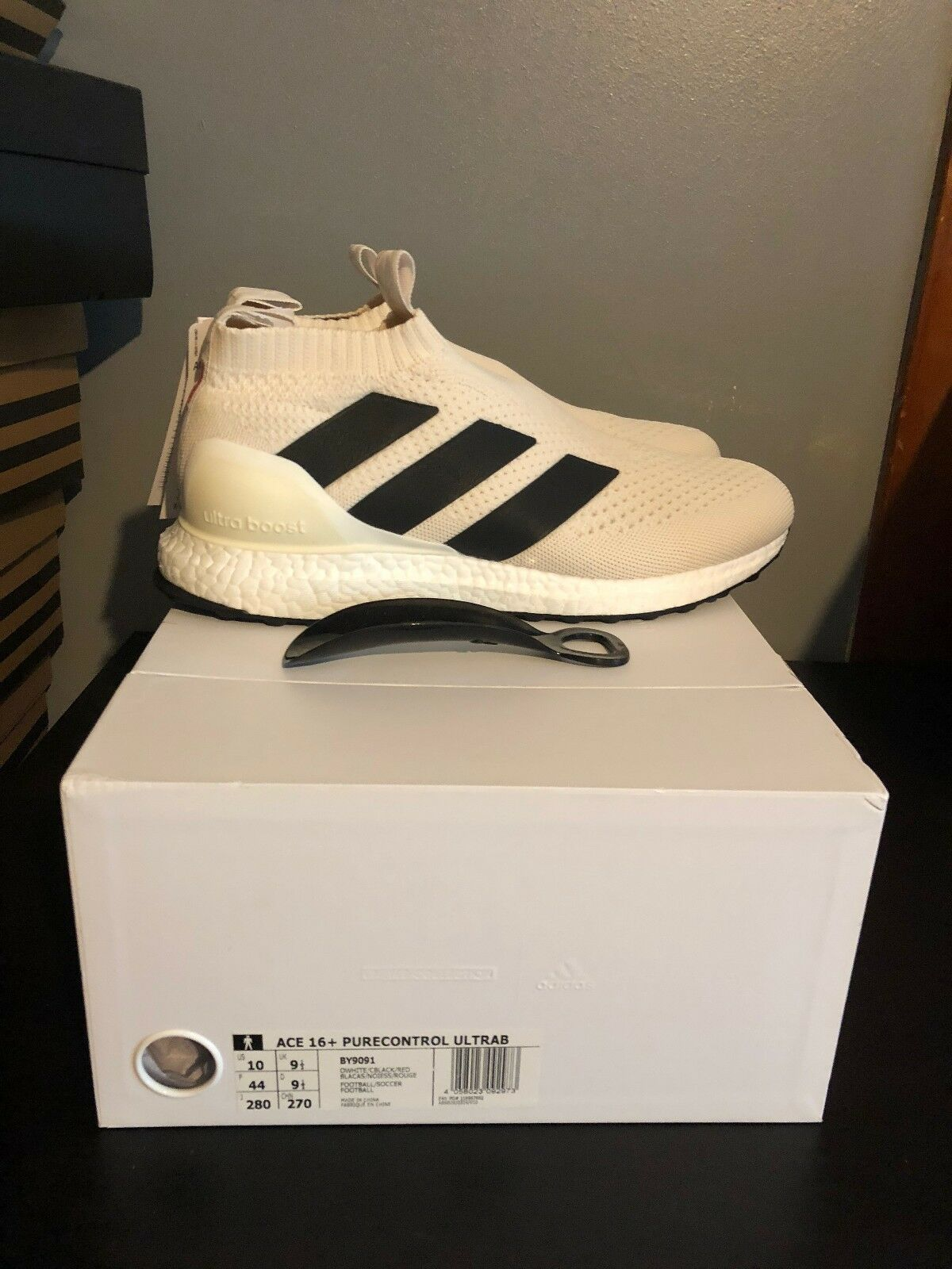ADIDAS ACE 16+ PURECONTROL ULTRABOOST CHAMPAGNE SZ 10 BY9091 BECKHAM MANIA WHITE