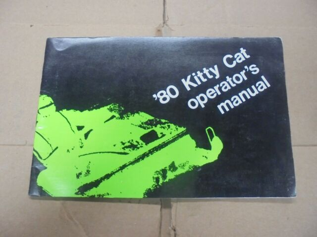 1980 Arctic Cat Kitty Cat Snowmobile Owners Service Manual