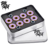 Dark Wolf Skateboard Bearings Titanium Abec-11 Purple Gold 8pcs & 4pcs Spacer \