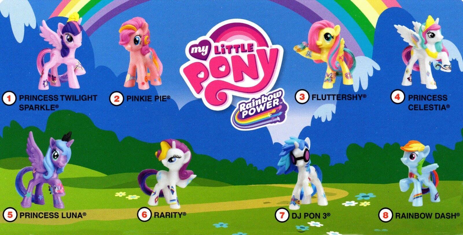 2014 McDonalds My Little Little Little Pony MIP Complete Set - Lot of 8 729aaf