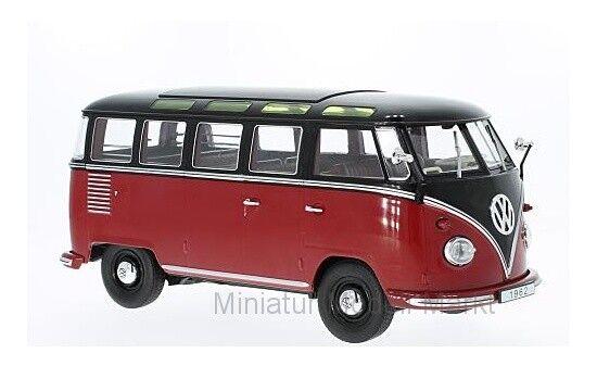 KK-Scale VW T1 - dunkelred dunkelred dunkelred black - Samba - 1962 - 1 18 5312c7