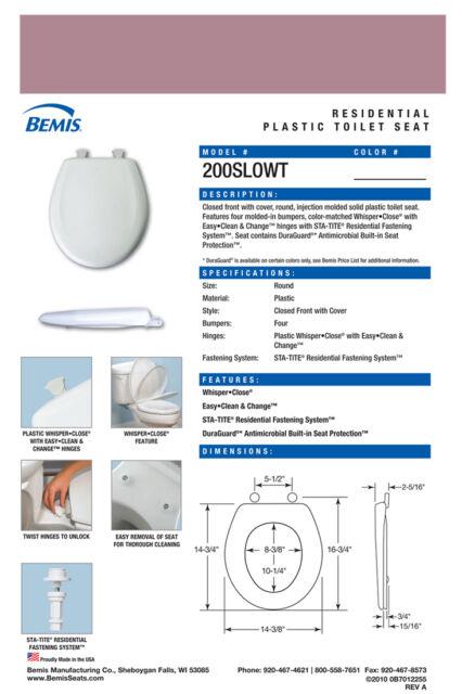 Phenomenal Bemis 200Slowt 303 Round Plastic Slow Close Toilet Seat Dusty Rose Uwap Interior Chair Design Uwaporg