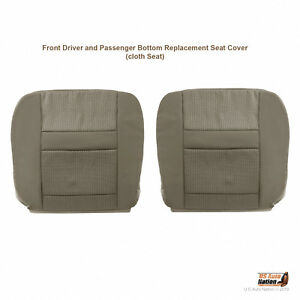 2010-Dodge-Ram-3500-4500-5500-Driver-AND-Passenger-Bottoms-Cloth-Seat-Cover-TAN