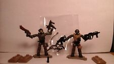 mega blocks, mega construx, 2 call of duty soldiers, +4 WEAPONS,+BONUS LOOK!