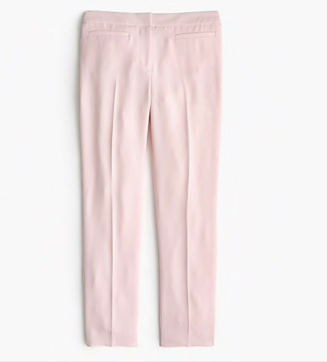 New JCrew French girl slim crop pant in 365 crepe Sunwashed Pink Size 4 H6288