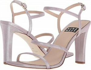 6d83c31c82f5a Details about $119 NINE WEST Light Purple Metallic Gabelle 40th Anniversary  Sandals 8