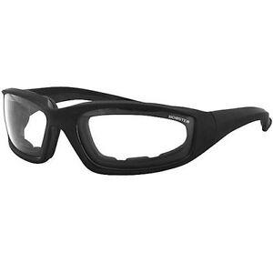 b16d5499da Bobster Foamerz 2 Sunglasses Clear Lenses Matte Black Frame ES214C ...