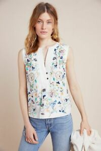 BNWT-Anthropologie-Isolde-Embroidered-Top-White-Size-S-RRP-140