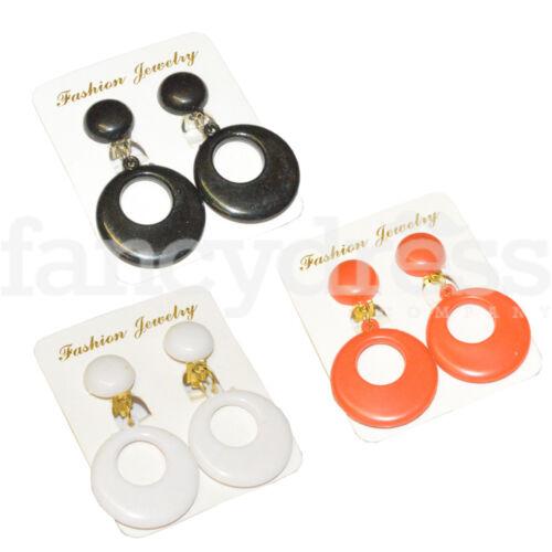 Medium spagnolo flamenco danza earrings aretes Clip on 4.5 cm DROP Costume NUOVO