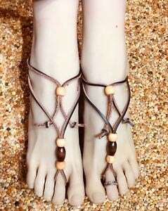 Image is loading Barefoot-Sandals-Women-s-Sexy-Foot-Jewelry-Hand- 61fcb508e065