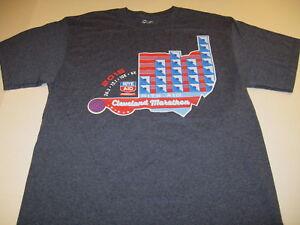 Details about Rite Aid Cleveland Ohio Marathon 2015 Full Half 10K 5K Race  T-Shirt New! LARGE