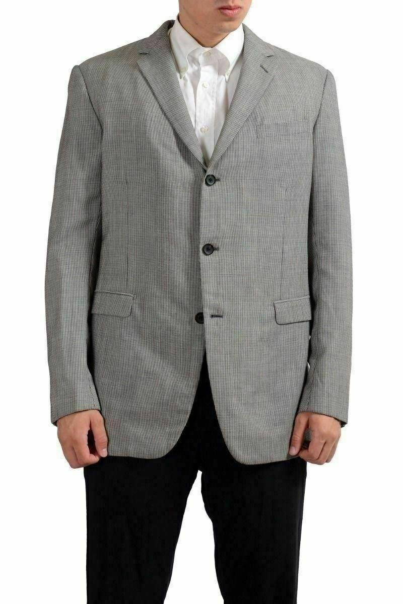 Gianfranco Ferre 100% Wool Multi-color Three Buttons Men's Blazer US 44 IT 54