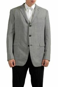 Gianfranco-Ferre-100-Wool-Multi-Color-Three-Buttons-Men-039-s-Blazer-US-44-IT-54