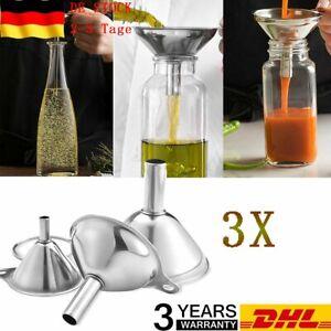 Trichter-Set 3 Stück Marmeladentrichter Edelstahl Einfülltrichter Griff DHL