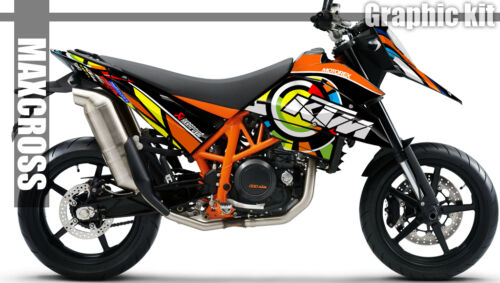 MAXCROSS GRAPHICS KIT DECALS DECAL STICKERS FOR LC4 690 SM SMR  2007-2008 STYLE2