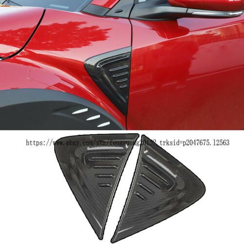For Toyota C-HR CHR 2016-2019 2pcs ABS Outer Side Front Door Fender Frame Trim A