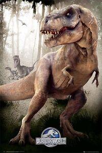Jurassic-World-T-Rex-POSTER-61x91cm-NEW-dinosaur