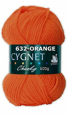 CYGNET CHUNKY KNITTING WOOL YARN   100g BALL  100% ACRYLIC