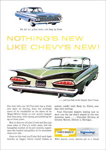 CHEVROLET-59-IMPALA-RETRO-A3-POSTER-PRINT-FROM-ADVERT-1959