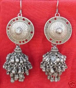 Image Is Loading Antique Tribal Old Silver Jewellery Earring Rajasthan