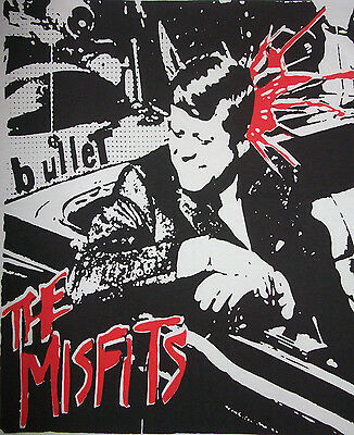 THE MISFITS Bullet LADIES T-Shirt HC Punk KBD Danzig BLACK FLAG Samhain UNDEAD