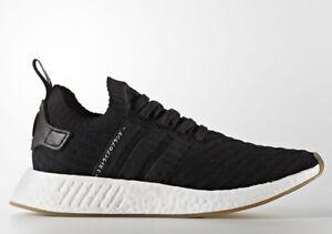 Image is loading Adidas-NMD-R2-PK-034-Black-White-034-