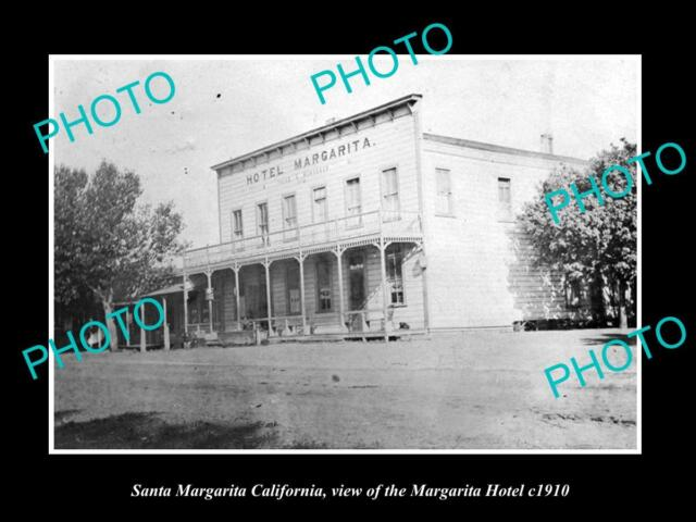 OLD LARGE HISTORIC PHOTO OF SANTA MARGARITA CALIFORNIA, THE MARGARITA HOTEL 1910