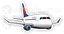 Embraer 175 Delta Connection aircraft sticker