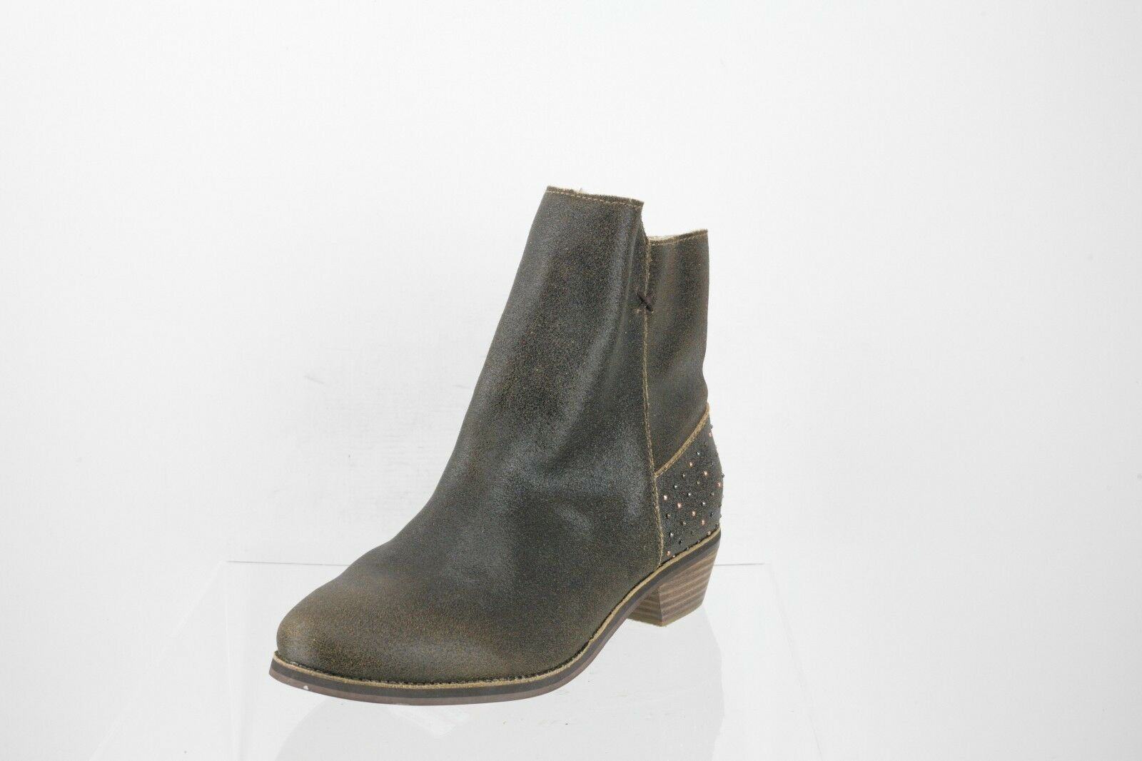 Reef Adora Western Dark Brown Leather Ankle Boots Women's shoes Size 9.5 M NEW