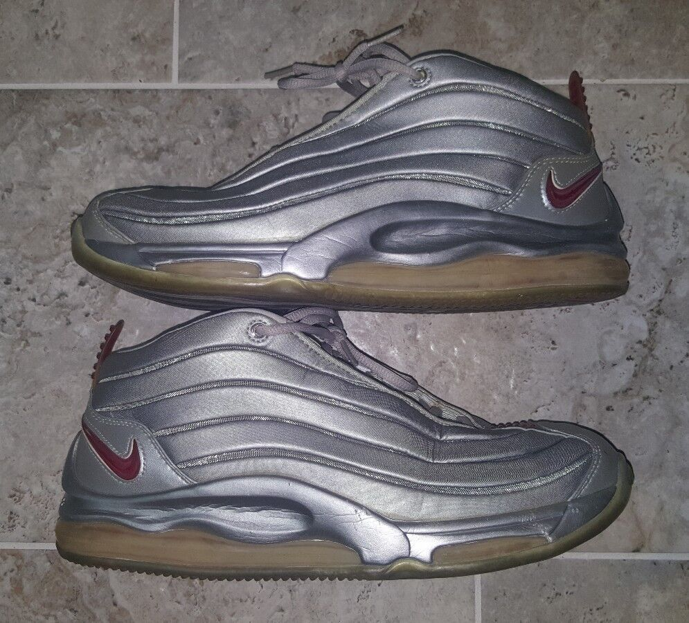 Nike Air Total Max II Year 2000 Size US12 Model 830225-061 Silver Pro Red RARE