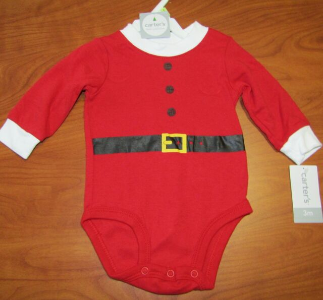 68078411f Carters Infant Boys 3 MO Holiday Santa Christmas Long Sleeve ...