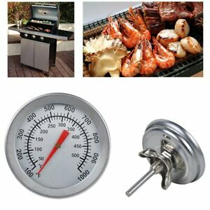 Stainless-Steel-Barbecue-BBQ-Smoker-Grill-50-500-Thermometer-Temperature-Tool