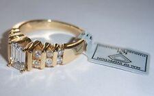 14K EMERALD CUSHION CUT ENGAGEMENT 1.18CT.  LAB CERTIFIED NATURAL DIAMOND RING