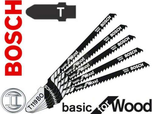 Bosch brand curve and scroll cut wood jigsaw blades softwood and plywood T119BO
