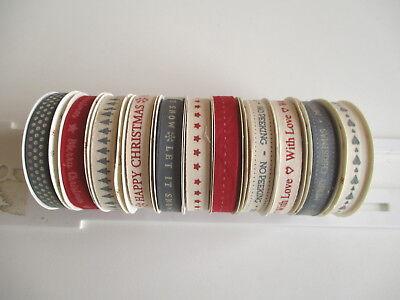 1 reel Dovecraft Modern Christmas Ribbon choice of design 2m grosgrain