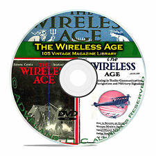 The Wireless Age, 105 Classic Old Time Radio OTR Magazine Collection PDF DVD B87